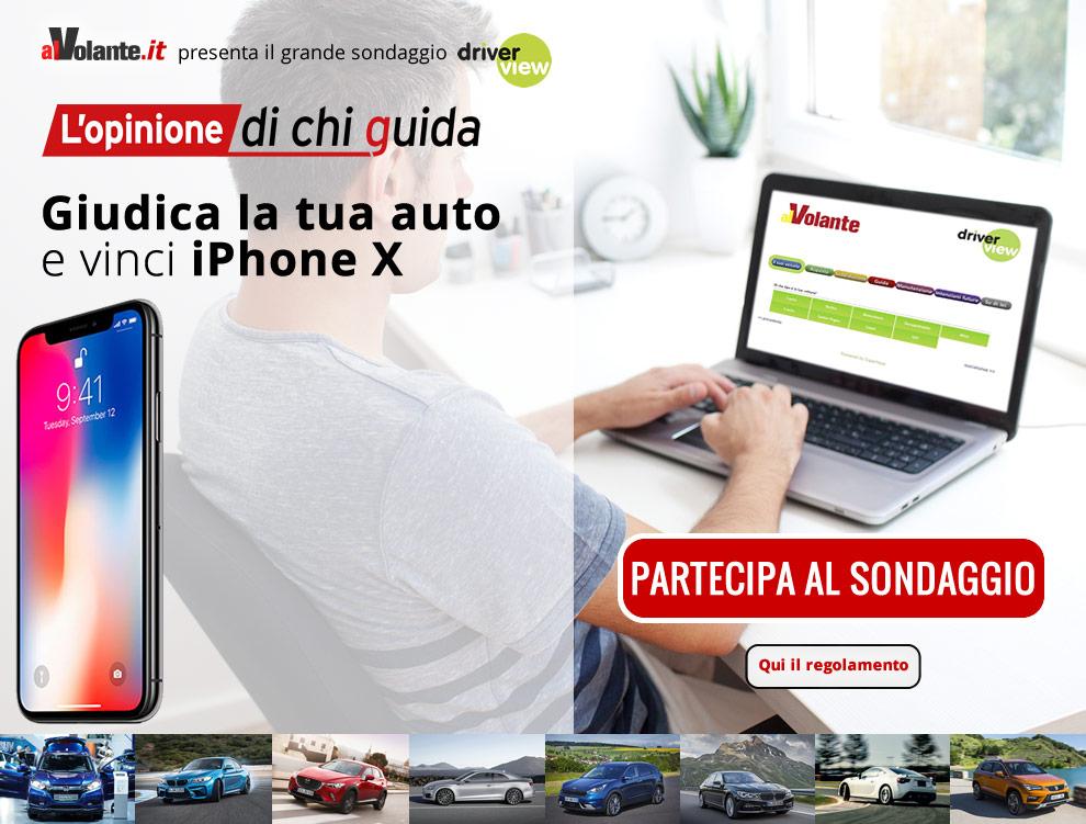 Giudica la tua auto e vinci iPhone X