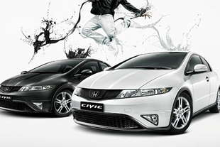 honda civic black white
