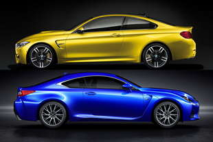 bmw m4 vs lexus rc f