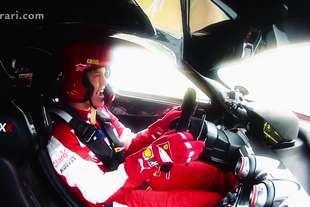 vettel guida ferarri fxx video