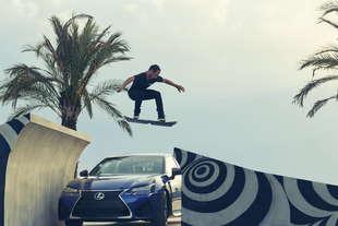 lexus skate board levitazione magnetica