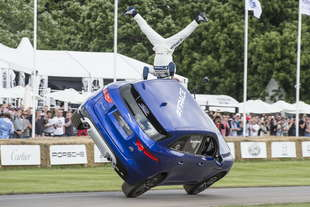 jaguar f pace stunt goodwood