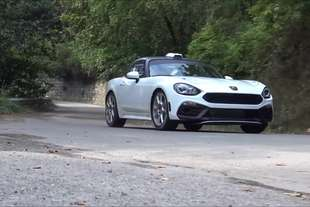 abarth 124 rally test su strada