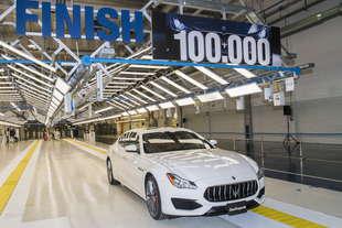 maserati gia 100 000 auto prodotte grugliasco