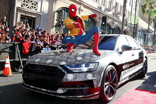 audi a8 alla prima spider man homecoming