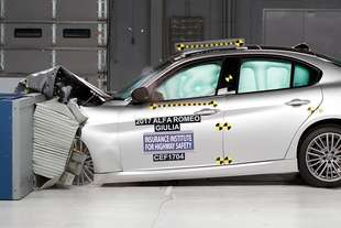 alfa romeo giulia crash test iihs usa 2017
