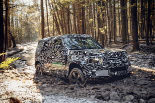 land rover defender 2020 spy test