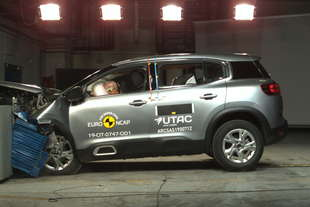 crash test citroen c5 aircross e range rover evoque