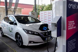 nissan enel x sperimentano il vehicle to grid