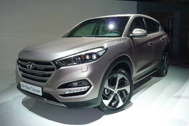 La Hyundai Tucson vista da vicino