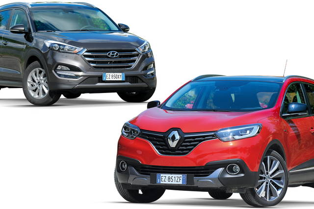confronto prezzi renault kadjar contro hyundai tucson. Black Bedroom Furniture Sets. Home Design Ideas