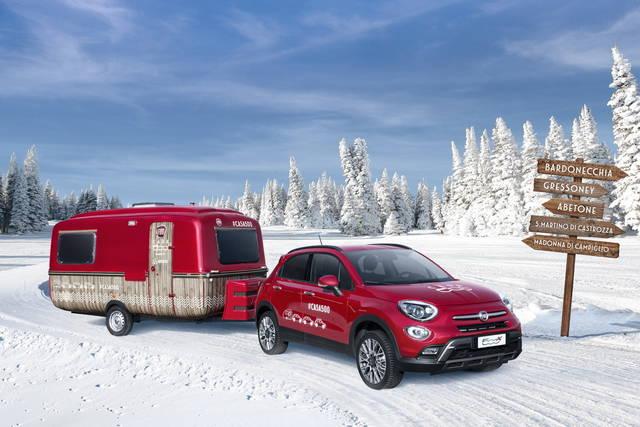 Fiat 500X: sulle piste da sci con Casa 500