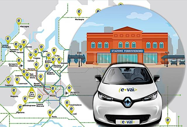 L'auto in car sharing ti aspetta in stazione