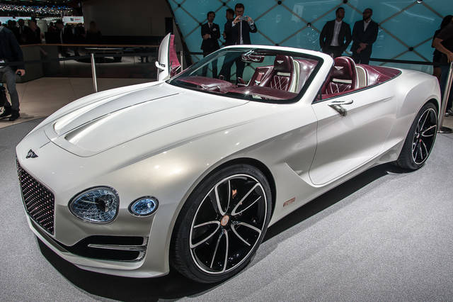 Bentley EXP 12 Speed 6e: prove di elettrico