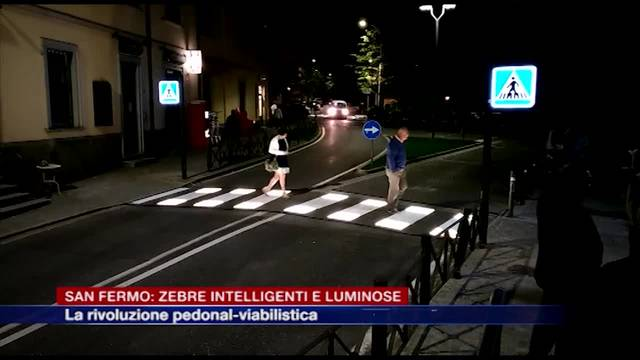 Le strisce pedonali intelligenti e luminose