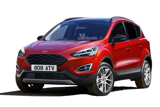 2018 - [Ford] Kuga III - Page 2 Ford-kuga-2019-spy-rendering