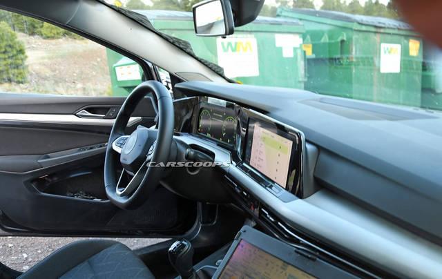 volkswagen golf 8 le foto spia degli interni. Black Bedroom Furniture Sets. Home Design Ideas