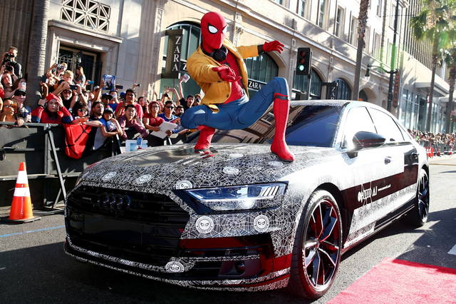 "L'Audi A8 alla prima di ""Spider-Man: Homecoming"""
