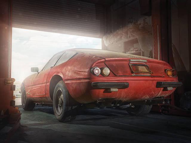 Dal granaio riemerge una vecchia Ferrari Daytona: vale quasi 2 milioni