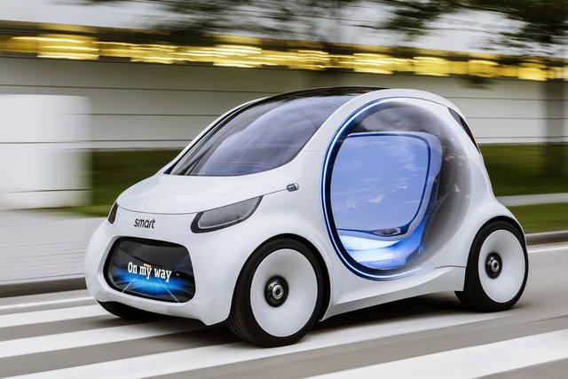 smart vision eq fortwo il futuro del car sharing. Black Bedroom Furniture Sets. Home Design Ideas