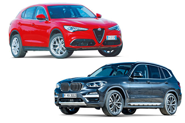 Confronto prezzi: Alfa Romeo Stelvio contro BMW X3