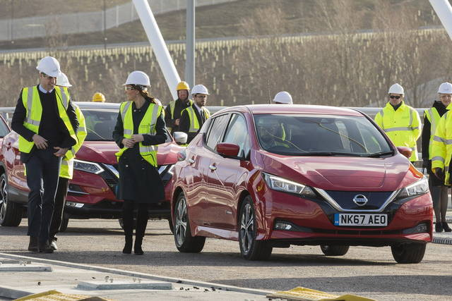 William e Kate sulla Nissan Leaf