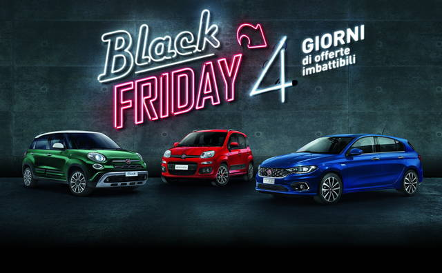 Il Black Friday di Fiat e Lancia