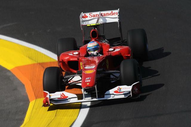 Ferrari alonso valencia 2010