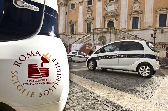 Citroen c zero vigili roma 04