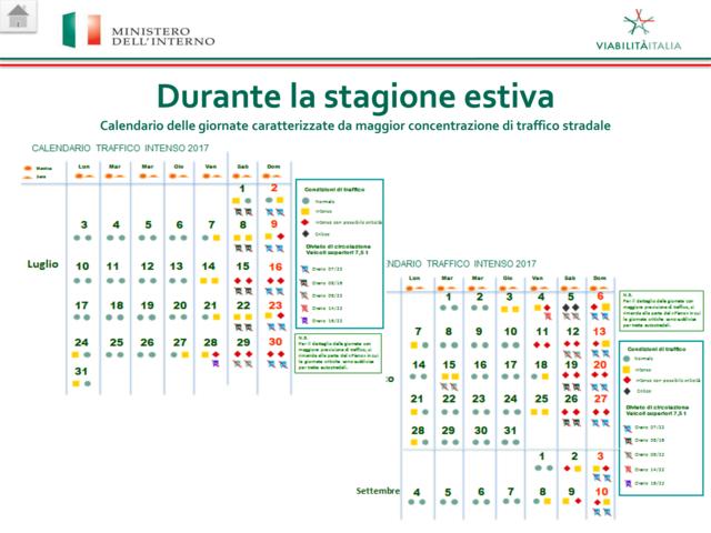 Calendario Traffico Autostrade.Estate 2017 Previsioni Del Traffico Sulle Autostrade Per Le