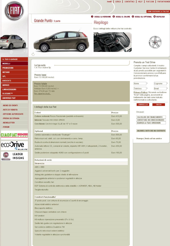 preventivo auto usata online